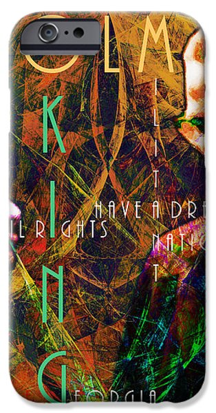 Malcolm and The King 20140205 with text iPhone Case by Wingsdomain Art and Photography
