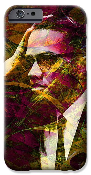 Malcolm X iPhone Cases - Malcolm X 20140105 with text iPhone Case by Wingsdomain Art and Photography