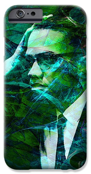 Malcolm X iPhone Cases - Malcolm X 20140105p138 iPhone Case by Wingsdomain Art and Photography