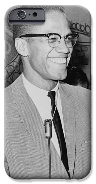 Recently Sold -  - Nation iPhone Cases - Malcolm X iPhone Case by Ed Ford