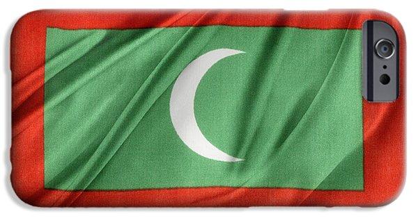 Patriotism iPhone Cases - Maldives flag iPhone Case by Les Cunliffe