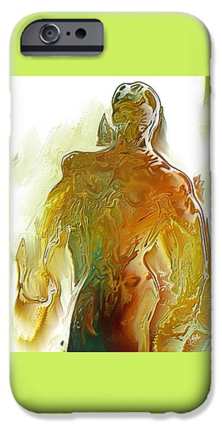 Abstract Digital Art iPhone Cases - Male syrup By Quim Abella iPhone Case by Joaquin Abella