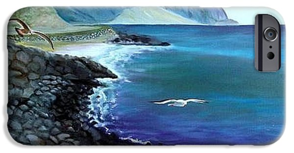 Malibu Paintings iPhone Cases - Malibu Beach iPhone Case by Lora Duguay