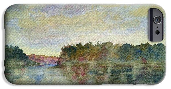 Malibu Paintings iPhone Cases - Malibu Lagoon Impressions iPhone Case by Jan Cipolla