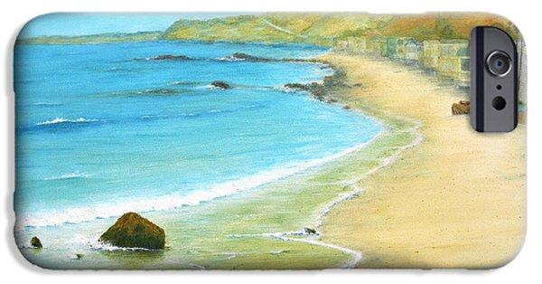 Malibu Paintings iPhone Cases - Malibu Road iPhone Case by Jerome Stumphauzer