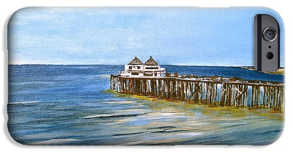 Malibu Paintings iPhone Cases - Malibu iPhone Case by Sarah  Cassidy