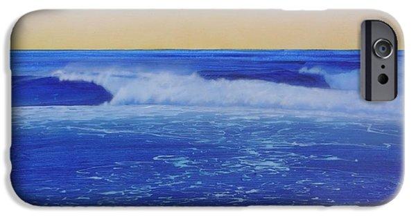Malibu Paintings iPhone Cases - Malibu Sunrise iPhone Case by Mark  Leavitt