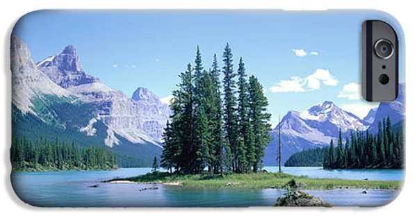 Alberta iPhone Cases - Maligne Lake Near Jasper, Alberta iPhone Case by Panoramic Images