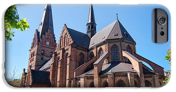 Port Town iPhone Cases - Malmo church 02 iPhone Case by Antony McAulay
