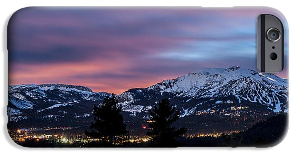 Sunset iPhone Cases - Mammoth at Night iPhone Case by Cat Connor
