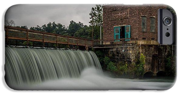 Arkansas iPhone Cases - Mammoth Spring Dam iPhone Case by Paul Freidlund