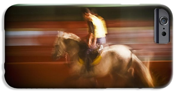 Weekend Activities iPhone Cases - Man And Horse Morocco iPhone Case by Alex Adams