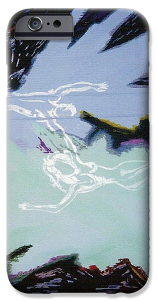 Angel Blues Pastels iPhone Cases - Man and Woman 1 iPhone Case by Mike Manzi