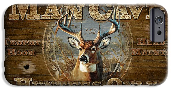 Cynthie Fisher iPhone Cases - Man Cave Deer iPhone Case by JQ Licensing