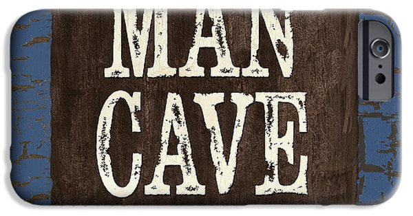 Creative People iPhone Cases - Man Cave Enter at your own Risk iPhone Case by Debbie DeWitt