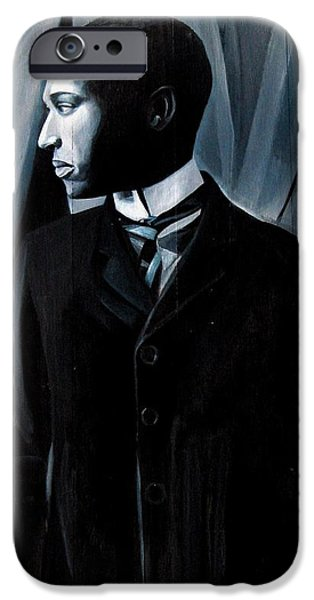 History Sculptures iPhone Cases - Man in Suit and Tie iPhone Case by Joyce Owens