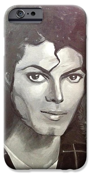 Mj iPhone Cases - Man in the Mirror iPhone Case by Belinda Low