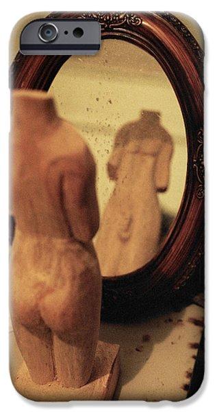 Man in the Mirror iPhone Case by David  Cardona
