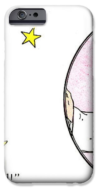 MAN IN THE MOON iPhone Case by Granger