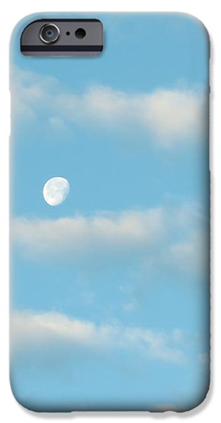 Man in the Moon in the Clouds iPhone Case by Fortunate Findings Shirley Dickerson