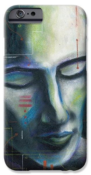 Technology Pastels iPhone Cases - Man-Machine iPhone Case by John Ashton Golden