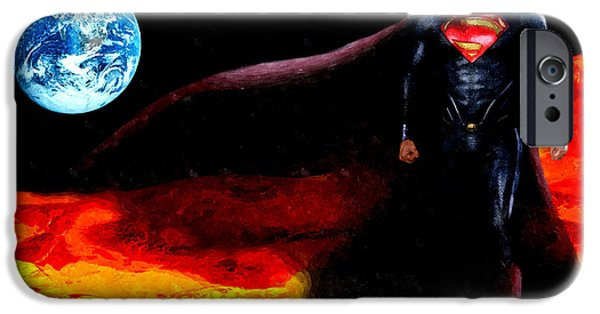 Macrocosm iPhone Cases - Man of Steel iPhone Case by Daniel Janda