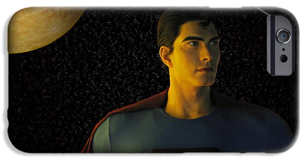 David iPhone Cases - Man of Steel iPhone Case by David Dehner