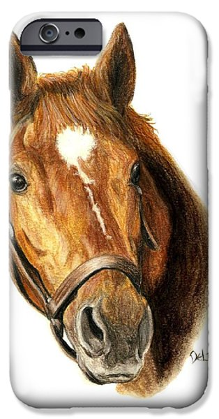 Horse Racing iPhone Cases - Man OWar iPhone Case by Pat DeLong