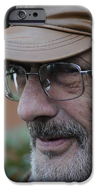 Old Man With Beard iPhone Cases - Teh face and his story iPhone Case by Salvatore Gabrielli