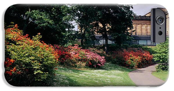 National Gallery Art iPhone Cases - Man Standing In A Formal Garden Near An iPhone Case by Panoramic Images