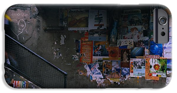 Alley iPhone Cases - Man Walking Upstairs From Post Alley iPhone Case by Panoramic Images