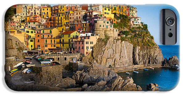 Ocean iPhone Cases - Manarola iPhone Case by Inge Johnsson