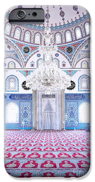 Persian Carpet iPhone Cases - Manavgat Mosque Interior 01 iPhone Case by Antony McAulay
