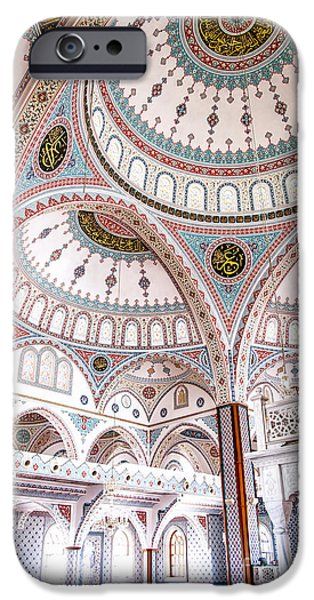 Persian Carpet iPhone Cases - Manavgat Mosque Interior 02 iPhone Case by Antony McAulay
