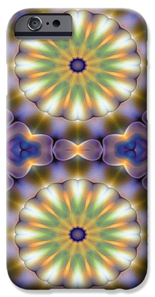 Abstract iPhone Cases - Mandala 105 for iPhone Double iPhone Case by Terry Reynoldson