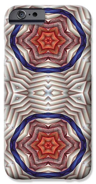 Circles iPhone Cases - Mandala 12 for iPhone Double iPhone Case by Terry Reynoldson