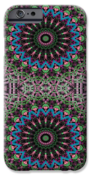 Circles iPhone Cases - Mandala 33 for iPhone Double iPhone Case by Terry Reynoldson