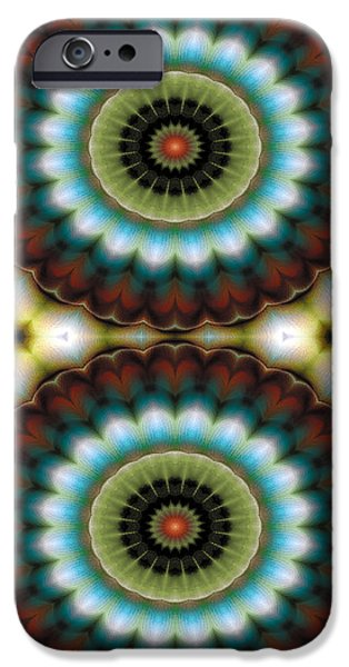 Circles iPhone Cases - Mandala 99 for iPhone Double iPhone Case by Terry Reynoldson