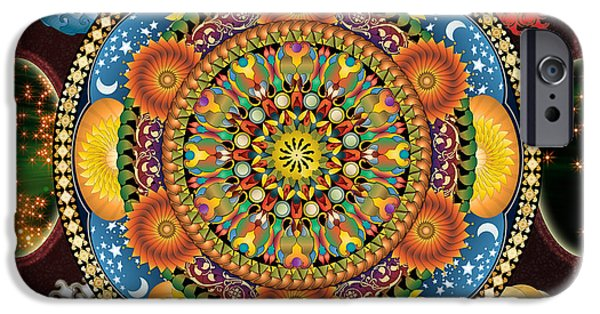 Bedros Mixed Media iPhone Cases - Mandala Elements sp iPhone Case by Bedros Awak