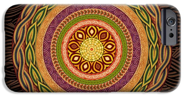 Connect Mixed Media iPhone Cases - Mandala Embrace iPhone Case by Bedros Awak
