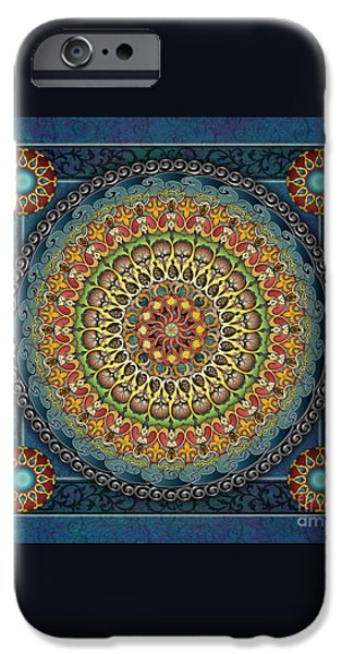 Mandala Fantasia iPhone Case by Bedros Awak