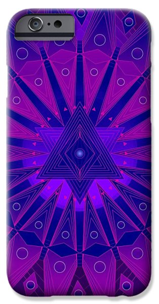 Mandala for Ca Symptoms iPhone Case by Sarah  Niebank