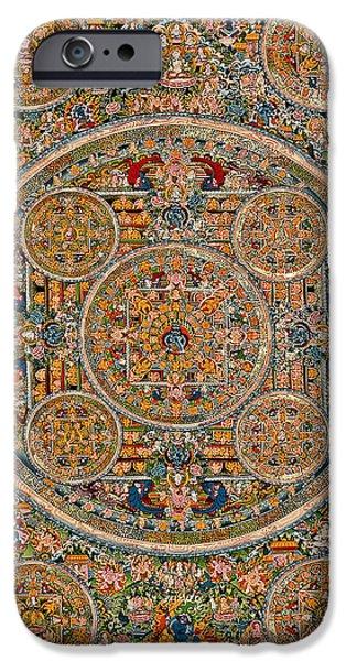 Mandala Of Heruka In Yab Yum And Buddhas iPhone Case by Lanjee Chee