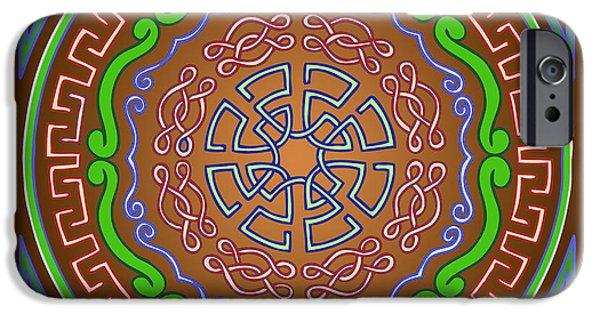 Kim Digital Art iPhone Cases - Mandala of the Earth Element iPhone Case by Kim Victoria
