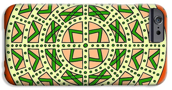 Kim Digital Art iPhone Cases - Mandala Scottish Shield iPhone Case by Kim Victoria