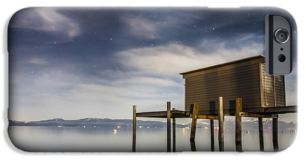 Lake Tahoe iPhone Cases - Mandalay Bay Moonlight iPhone Case by Jeremy Jensen
