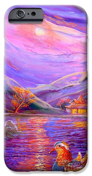 Dreamscape iPhone Cases - Mandarin Dream iPhone Case by Jane Small