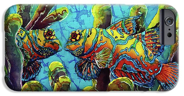 Ocean Tapestries - Textiles iPhone Cases - Mandarinfish  iPhone Case by Sue Duda