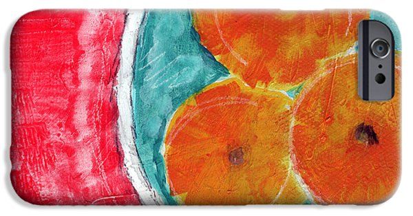 Abstract Expressionist iPhone Cases - Mandarins iPhone Case by Linda Woods
