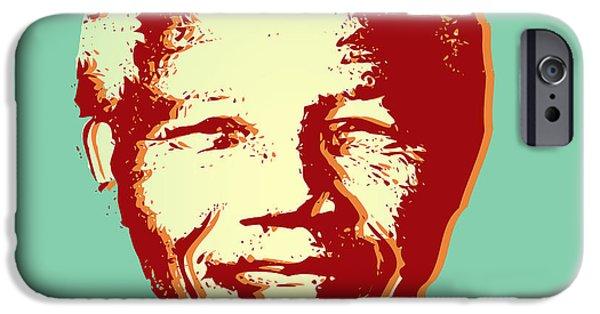 Animation iPhone Cases - Mandela iPhone Case by Mark Ashkenazi